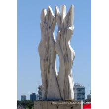 Art de décoration de jardin moderne artisanal marbre naturel abstrait sculptures de jardin à vendre