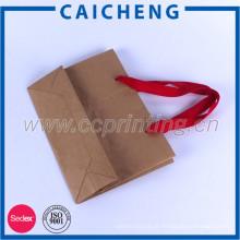 Fábrica de impressão da China atacado saco de papel de baixo preço para compras
