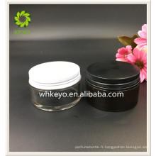 100g meilleure vente de soins de la peau crème cosmétique contenant pot en plastique ambre avec capuchon en métal