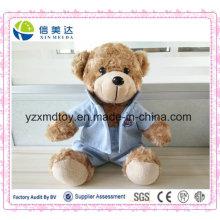 Neue Ankunfts-reizender blauer Standplatz-Kragen-Klage-Teddybär