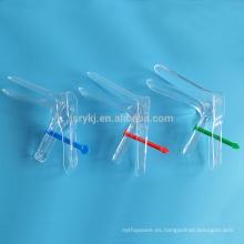 Espéculo vaginal medicinal desechable con tipo de sujetador para prueba ginecológica