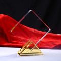 Trophée de verre Trophée de cristal blanc