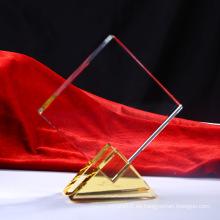 Trofeo de premio de vidrio trofeo de cristal en blanco