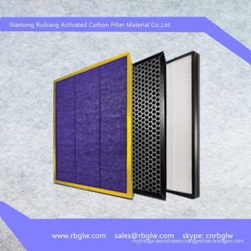manufacturing activated carbon thin air filter material