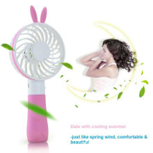 Rabbit Desktop Handheld Mini Fan USB para Outdoor