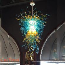 Mehrfarbiger mundgeblasener Glasleuchter für Hochzeits-Ballsaal G12
