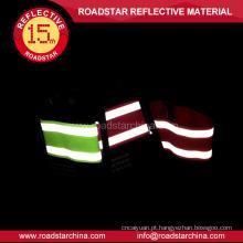 Moda fluorescência cor reflexiva da segurança braçadeira