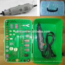 135w 217pcs GS CE ETL Broyage / Découpe / Forage / Polissage / Ponçage / Gravure Power Hobby Rotary Tool Kit Mini broyeur électrique