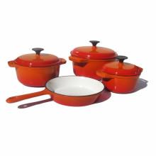 Amazon Gusseisen Emaille Kochgeschirr Set für 4 Stück