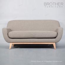 Design de mobiliário de casa moderna sala de estar tecido 2 lugares sofá