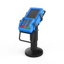 Black metal universal rotatable credit card holder machine display tablet pos stand with adjust clamp