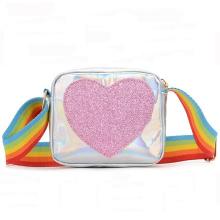 New Fashion Girls Crossbody Bag Laser PU Purse Kids Shoulder bags