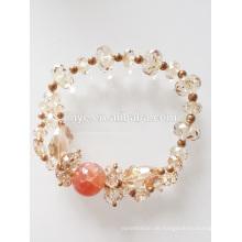 Mode Österreich Kristall natürliche Achat Perlen Armband