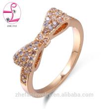 projeto do arco 925 anel de safira rosa diamante de cristal de prata esterlina