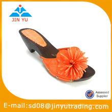 Hot venda sandália de mulher de couro