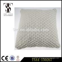 Hot sale moda espessura twill fios tricô cobre pilhas assento volta almofada cased