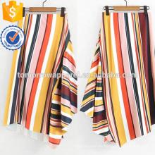 Fabricación asimétrica de la falda rayada Ropa de las mujeres de la moda al por mayor (TA3073S)