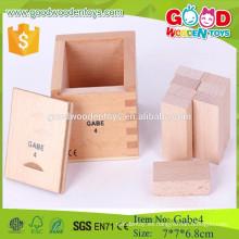 Frobel Gabe 4 Second Block Series Juguete educativo de madera preescolar para niños