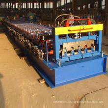 CE / ISO certificado russia typeH75 suelo decking mejor calidad paso azulejo que forma la máquina