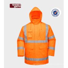 uniforme de segurança workwear 300D oxford reflexivo barato suitfire resistente jaqueta de segurança