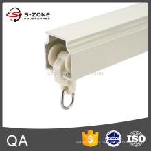 Rails à rideaux fixes au plafond en aluminium pistes dures à deux voies