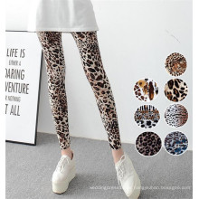 Leggings con estampado de leopardo de mujer elástica de alta calidad (78032)