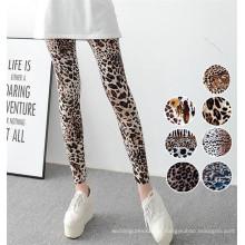 Alta qualidade stretchy mulheres leopardo impressão leggings (78032)