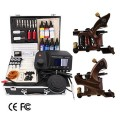 2 Damascus Handmade Tattoo Guns Kit with LED Power