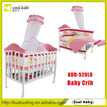 China manufacturer NEW design pink portable baby crib set