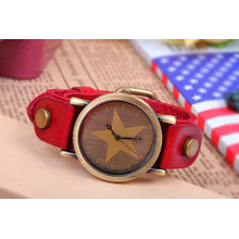 Fashion watch with leather strap KSQN-05