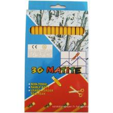 dessin Ensemble de crayons de bois naturel HB jaune barral