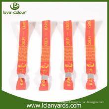 Festival items cheap charity wristbands with aluminium closure lock