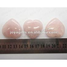 35MM Coeur en forme de quartz rose, brillant, haute qualité, pierre naturelle en forme de cœur