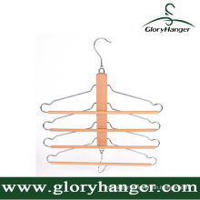 Multifunction Wooden Trousers Hanger with Matel Hook