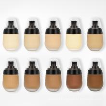 2021  New Design Oem Odm Cosmetic 10 Colors Long Lasting Waterproof  Makeup Liquid Foundation