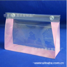Reusable Waterproof washing transparent ladies clear toiletry cosmetic pvc handle bag