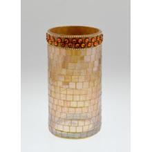 Home Decoração Vidro Mosaico Candle Holder / Cilindro