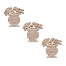 Custom-made wood carving furniture wooden flower basket model decals