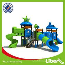 2015 Neue hochwertige Kunststoff Kinder Vergnügungspark Ausrüstung mit Tube Slide