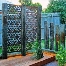 Warna Lapisan Dilapisi Outdoor Metal Decorative Screen