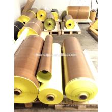 Professional Adhesive fabricante PTFE fibra de vidrio de teflón con adhesivo de silicona con revestimiento de liberación Quality Choice