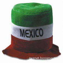 Polyester Imitation Velvet Festival Hat/Cap, Available in Various Embroidery Styles