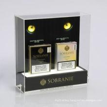 Fashion Acrylic Cigarette Dispenser Floor Display / LED Acrylic Display Stand for Cigarette