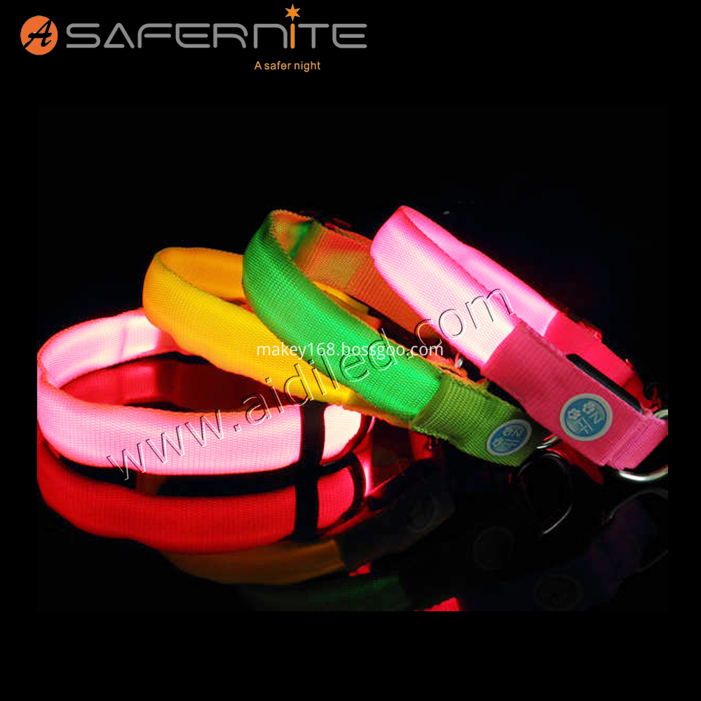 Nylon Light Up Dog Collar