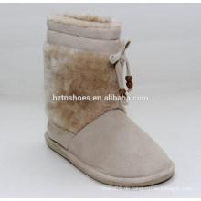 Billige Frauen schnee Stiefel Kaninchen Haare Dame Knöchel Schnee Stiefel