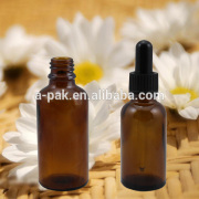 Round essential oil glass dropper bottle