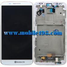 Pantalla LCD y digitalizador con carcasa frontal para LG G2 D802