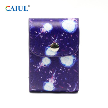 Jellyfish Staming Snap Button Sac de rangement en PU