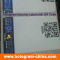 Sicherheits-Hologramm-Aufkleber mit Qr-Code-Druck