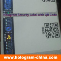 Adesivos de holograma de segurança com impressão de código Qr